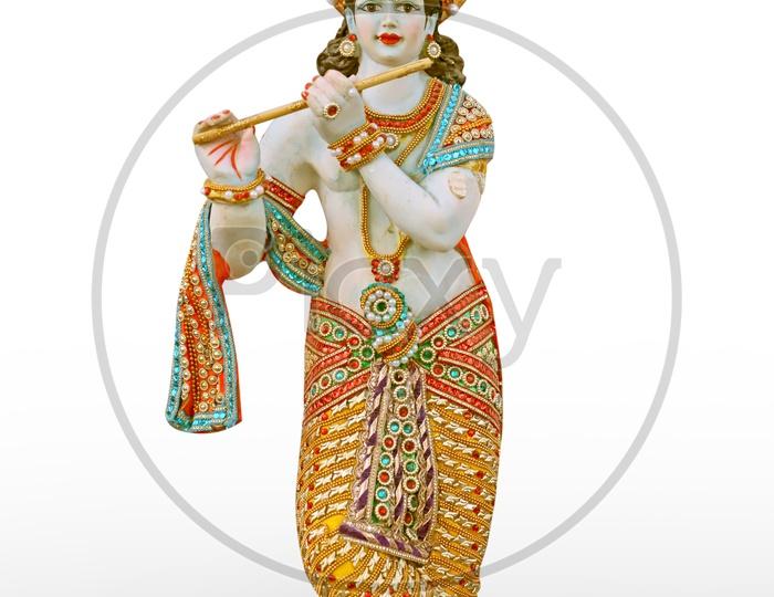 Lord Sri Krishna Idol with white Background