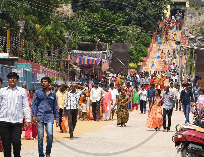 Devotees at Kanaka Durga Temple