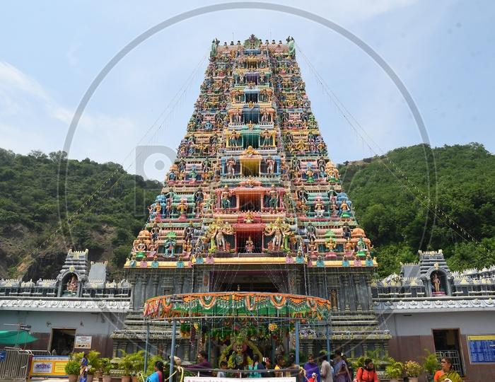 Hindu Temple Shrine or Goddess kanaka Durga Temple Shrine in Vijayawada