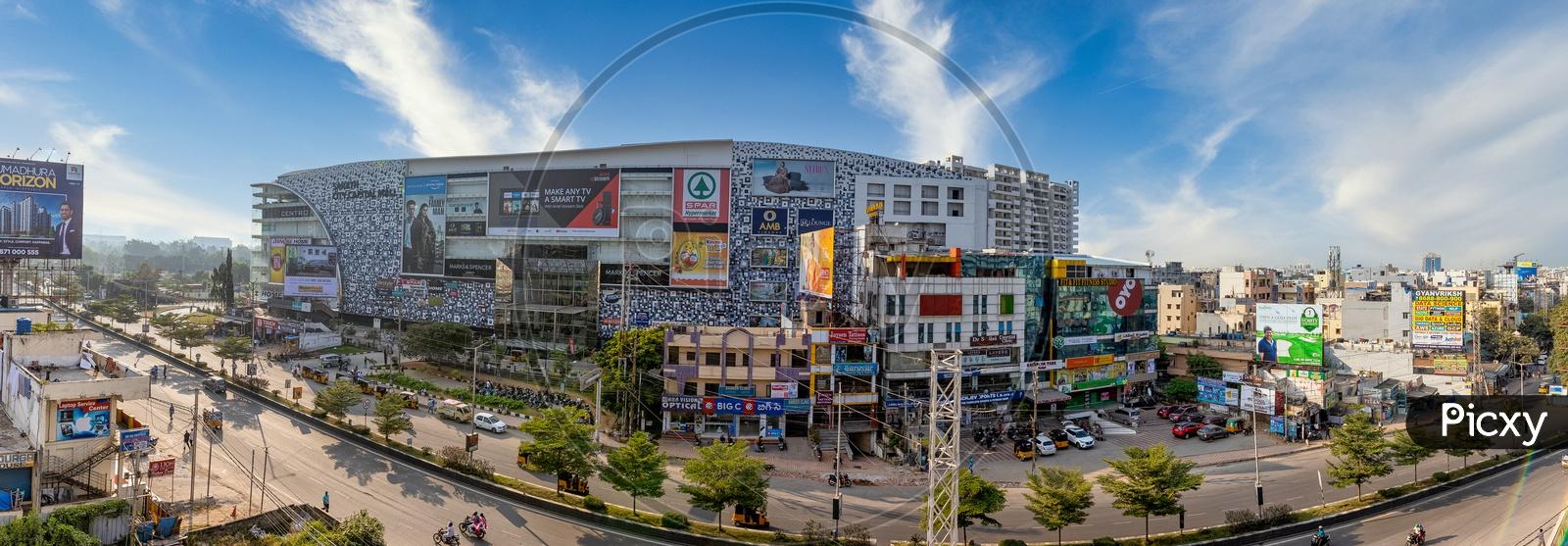 Panoramic view of Sarath City Capital mall