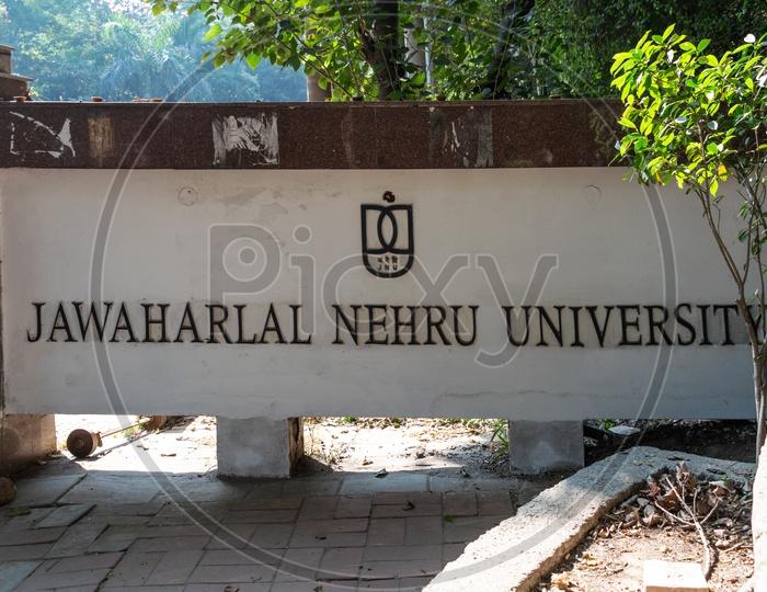Jawaharlal Nehru University (JNU) entry gate