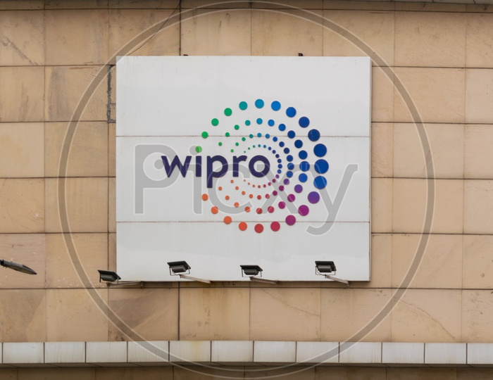 Wipro logo outside the office