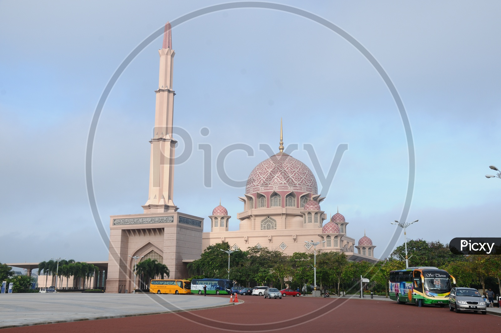 Pink Mosque Or Putra Mosque In Malaysia