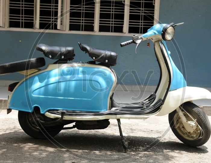 An Old Vintage Scooter