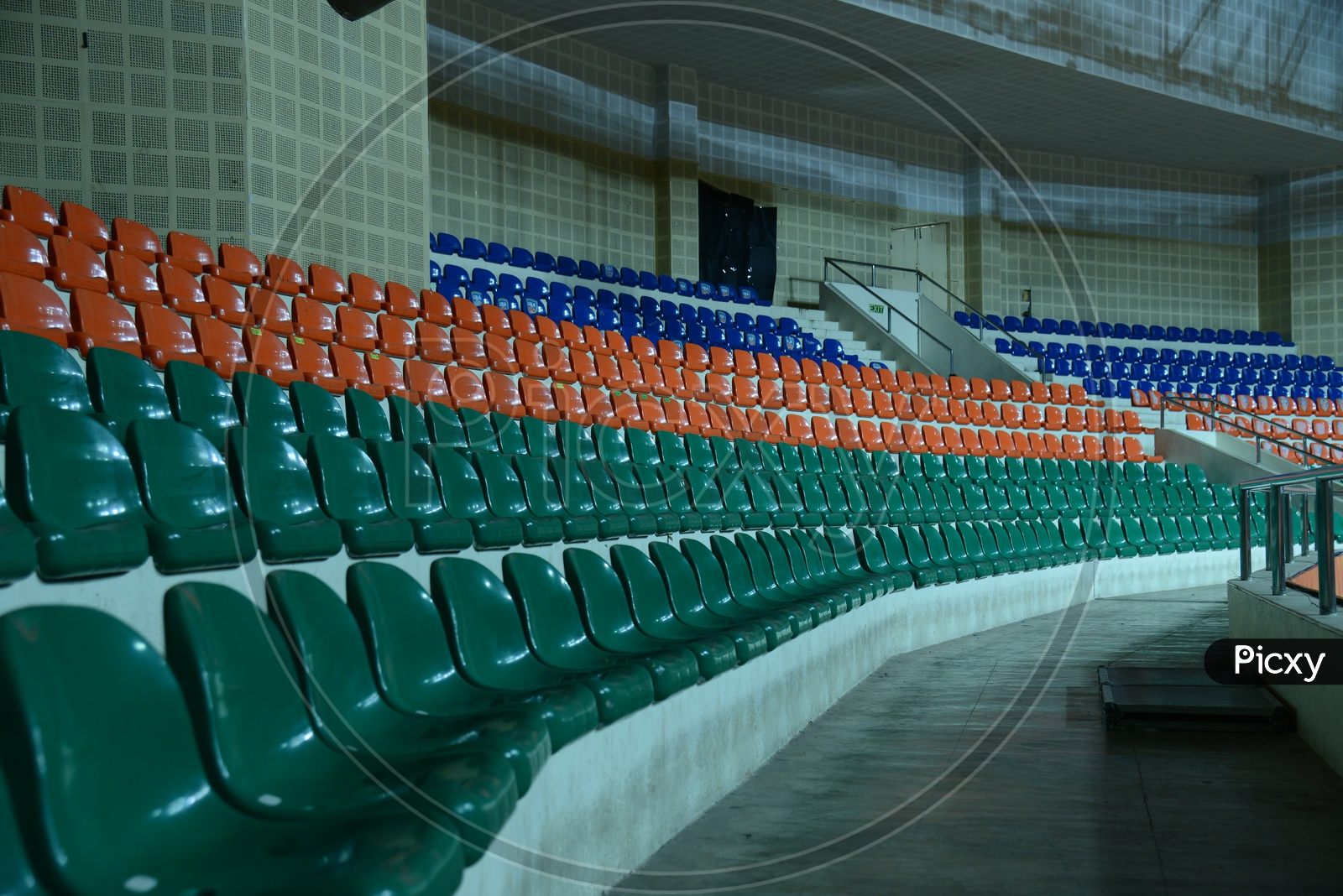 Chairs in an Indoor Stadium