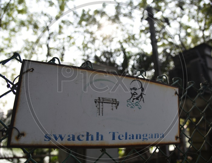 Swachh Telangana Boards At GHMC Play Ground   in Hyderabad