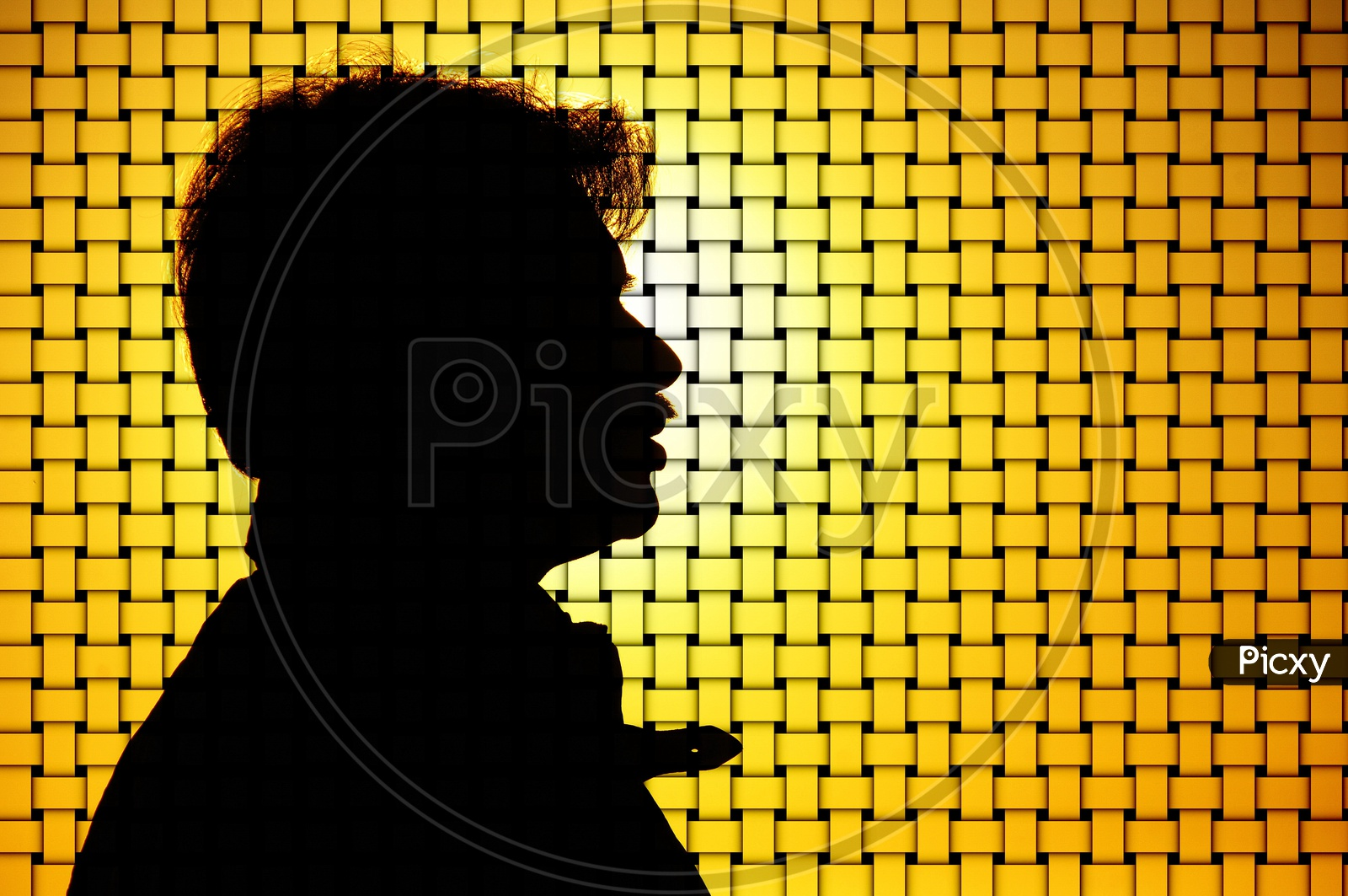 Illustration Background With  An Man Silhouette