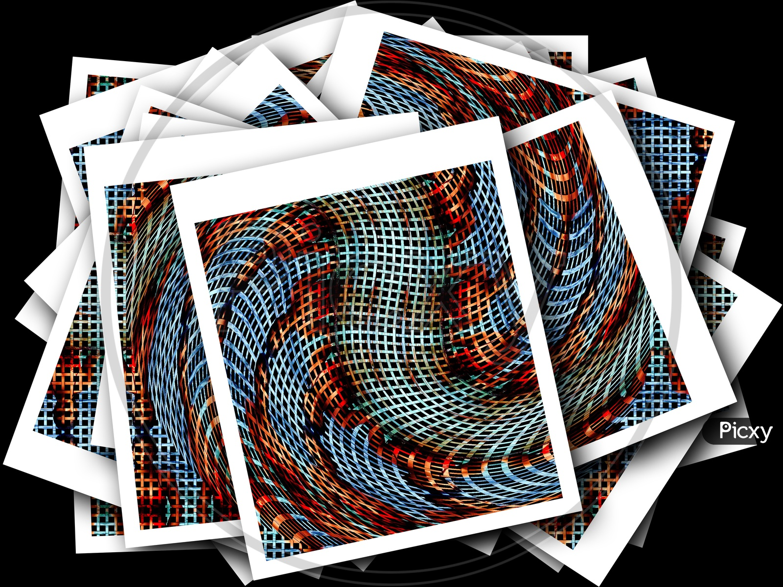 Illustration Template Background With Patterns And Designs