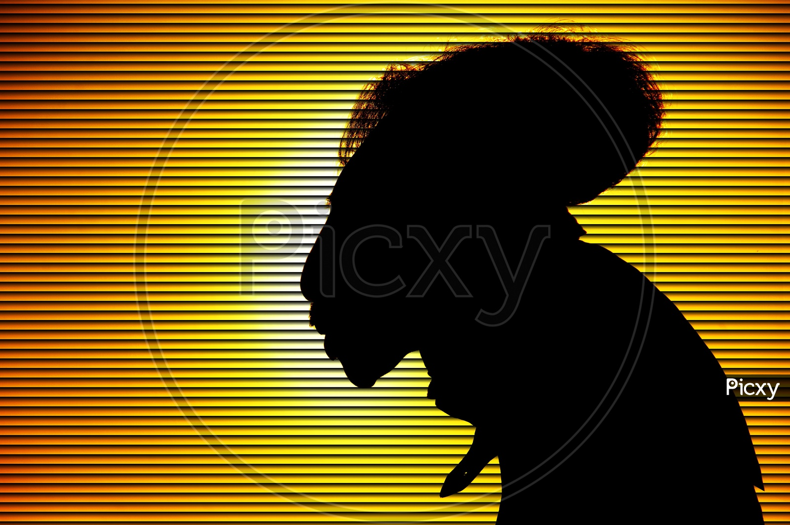 Silhouette Of An Old Man Cartoon Forming A Background