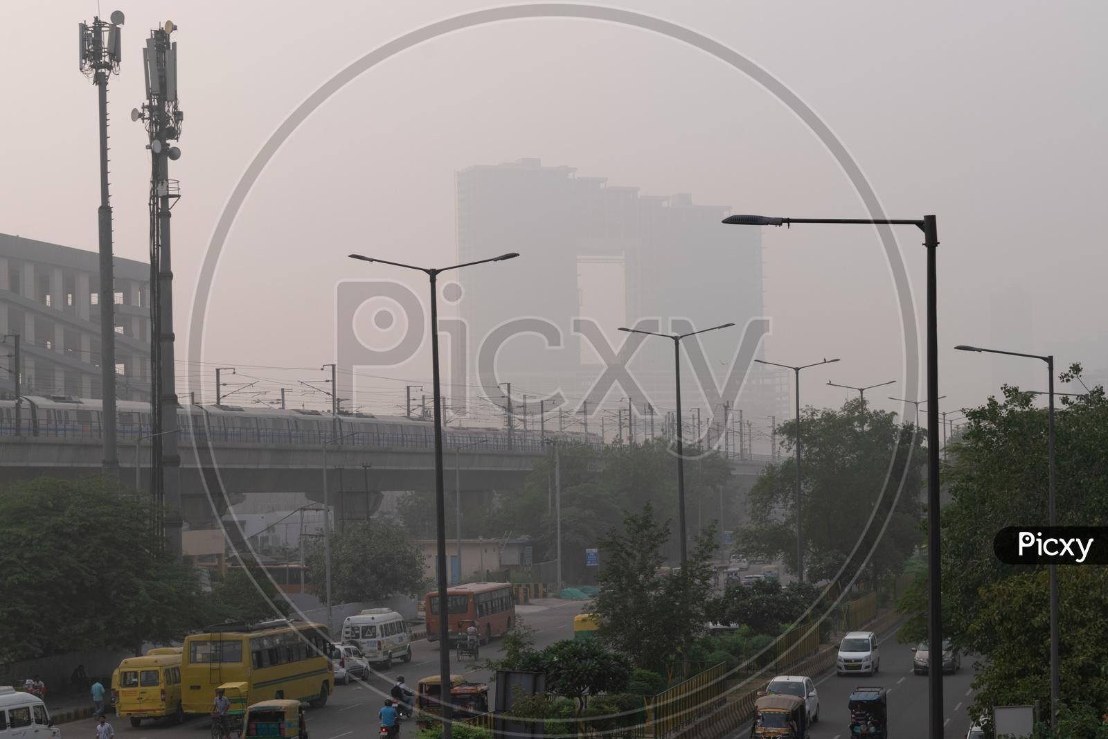 Pollution(smog) at severe level in Delhi NCR after Diwali