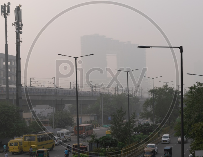 Pollution(smog) at severe level in Delhi NCR after Diwali