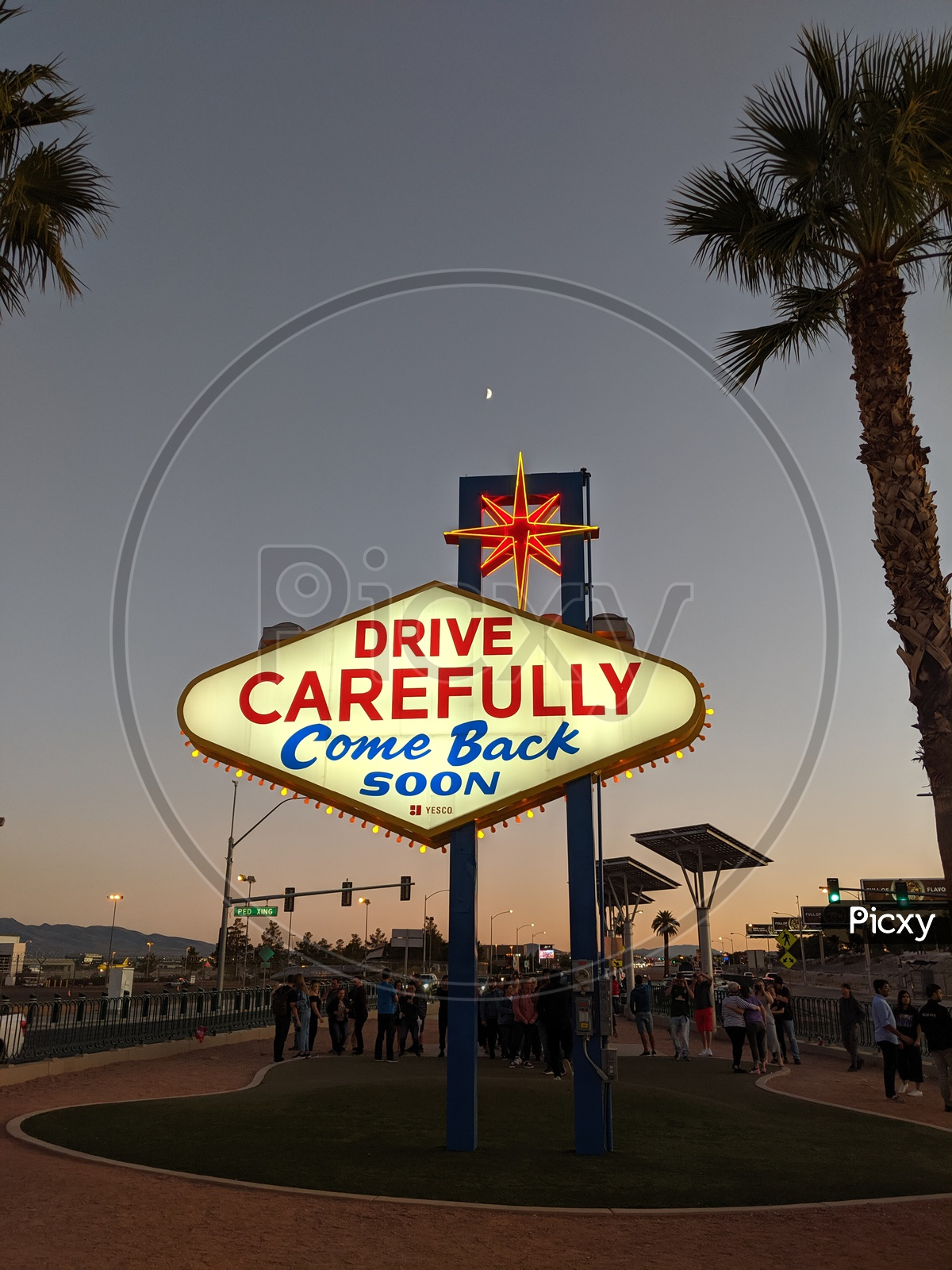 Safe Drive Cautions With Slogan  At The Fabulous Nevada