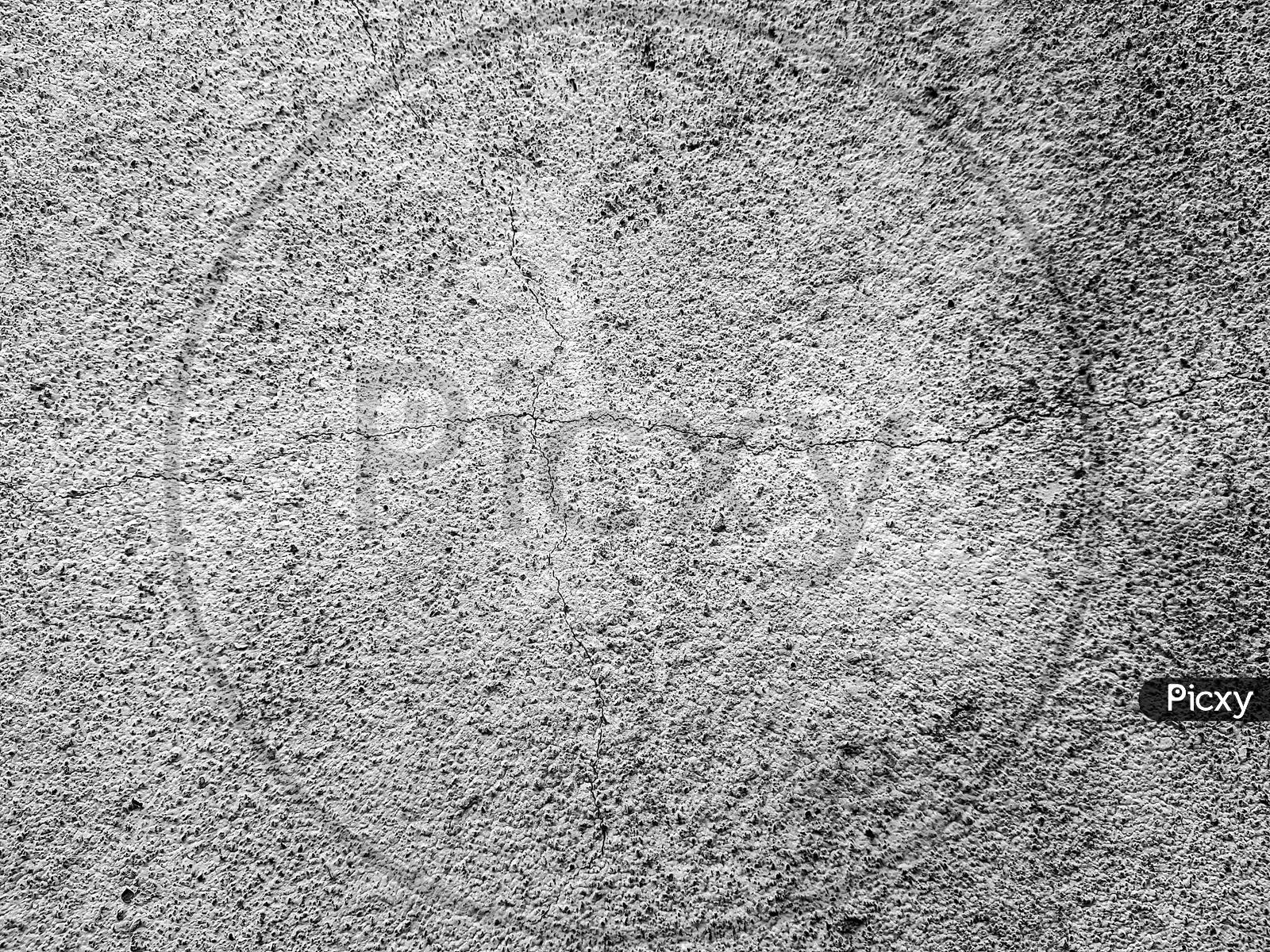 Black And White Rough Cement Wall Texture With Cracks, A Background Pattern