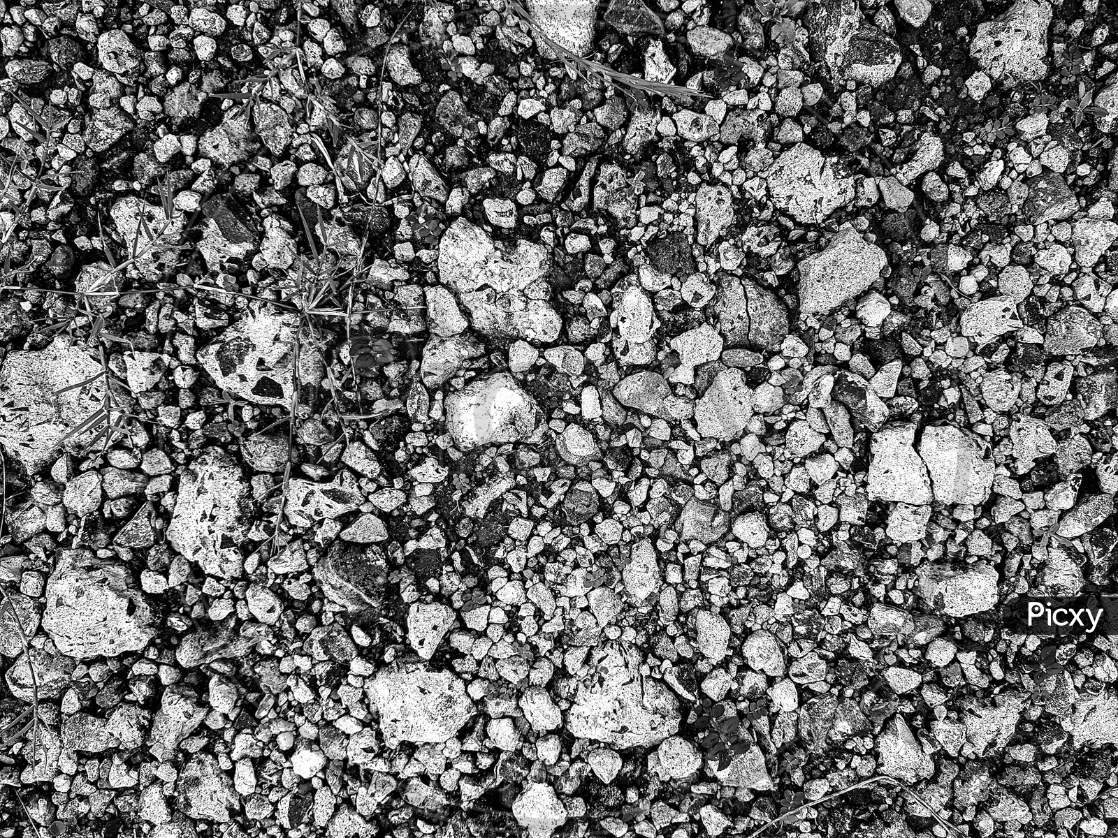 Black And White Pebble And Stone Pattern Background