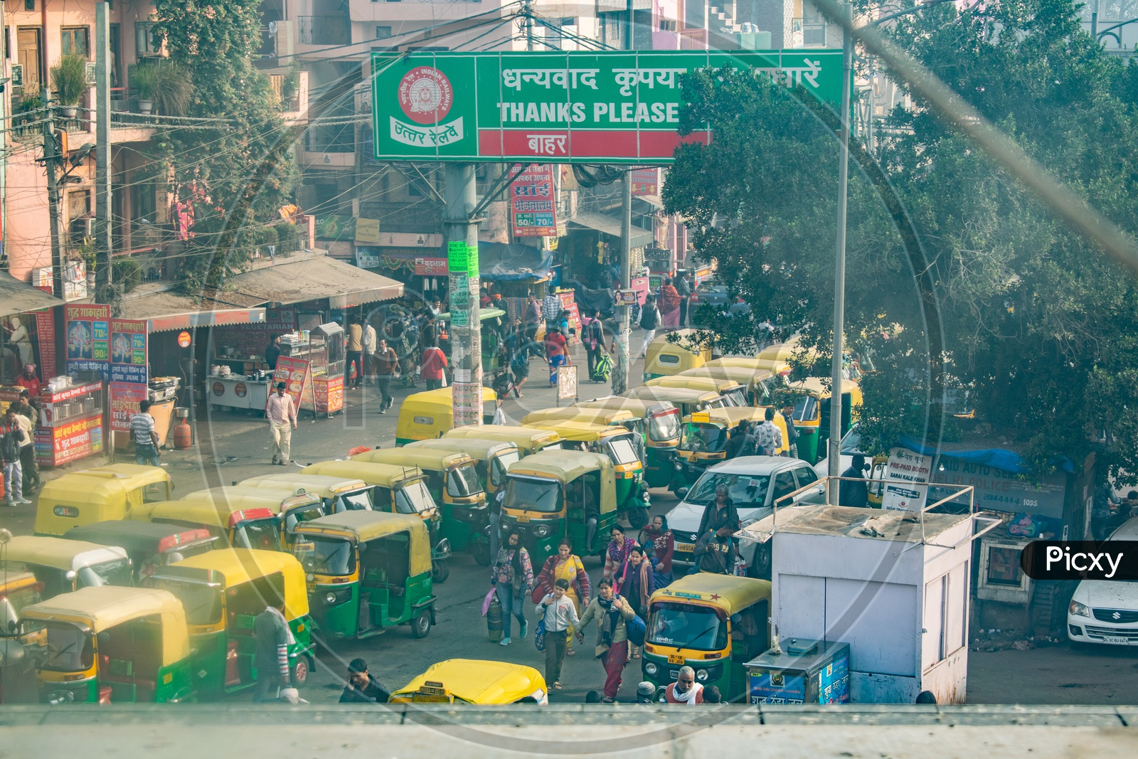 Auto-Rickshaws Outside The Nizamuddin Railway Station