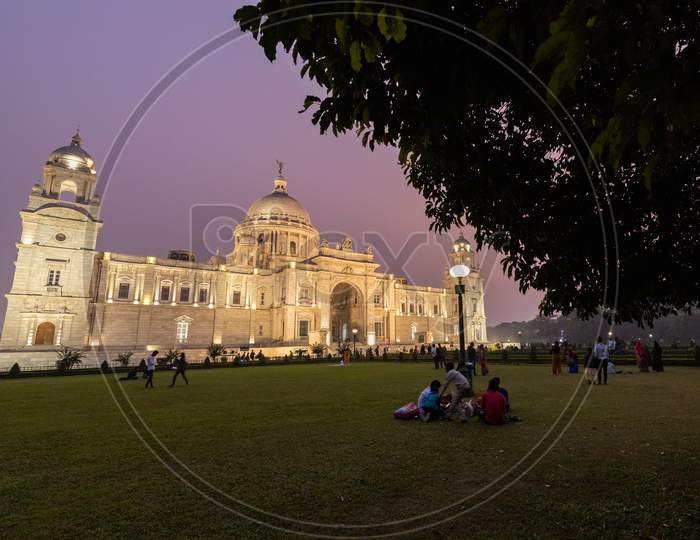 Night View of Victoria Memorial, Kolkata