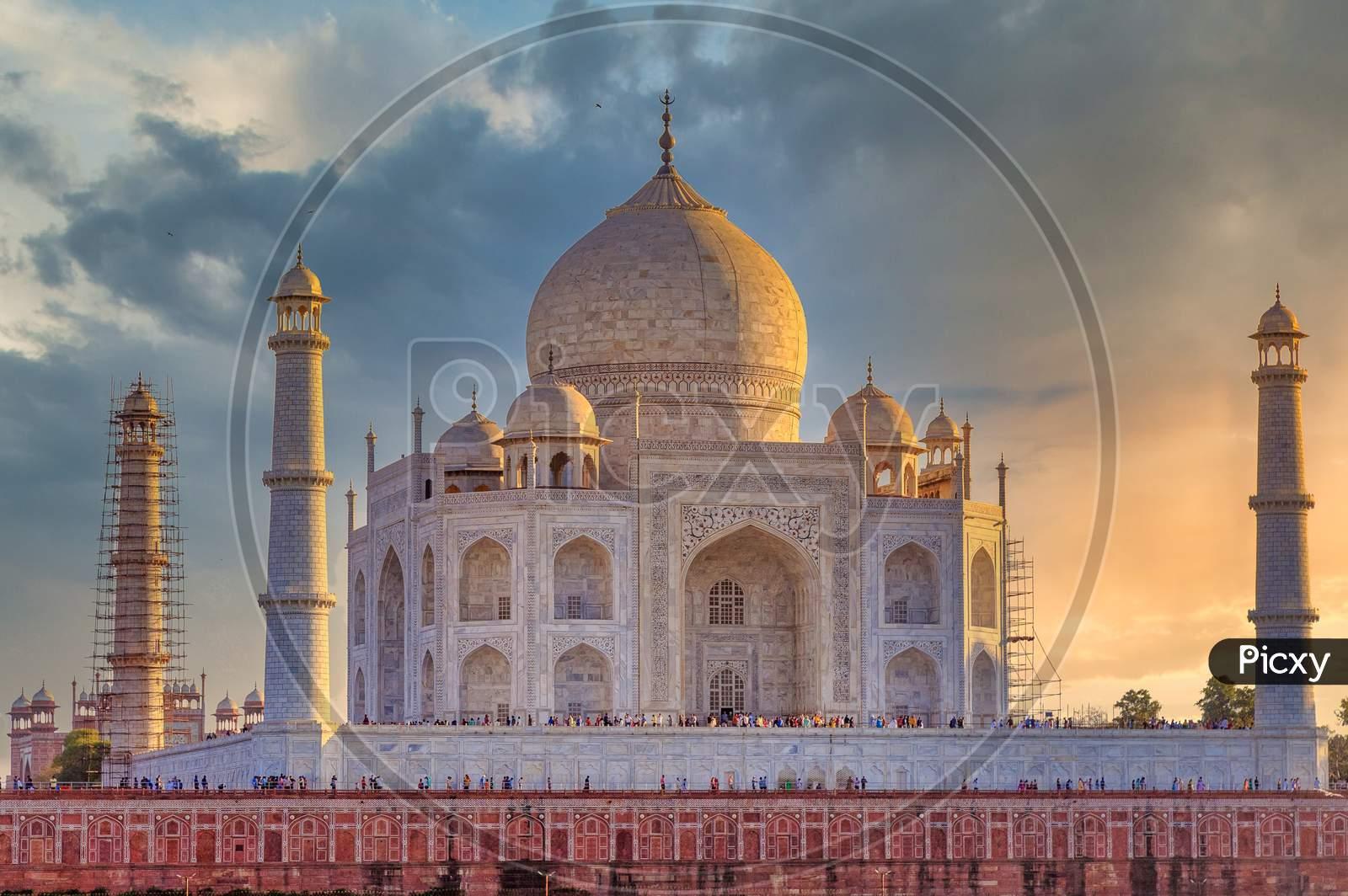 Closeup Shot of Taj Mahal