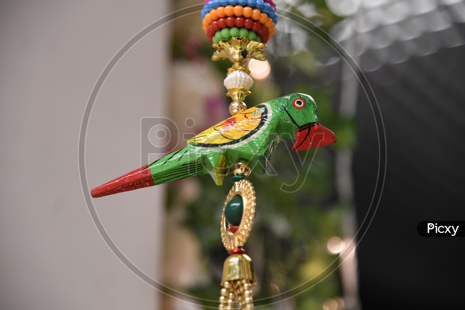 Indian Home Ceiling Hanging Decors With Parrot Design