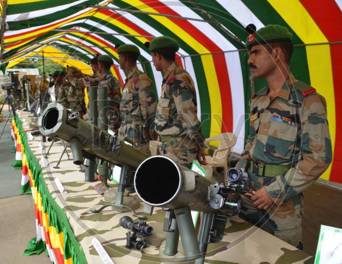 Indian Army Arms Or Ammunition Display in Assam On  August 23 2013