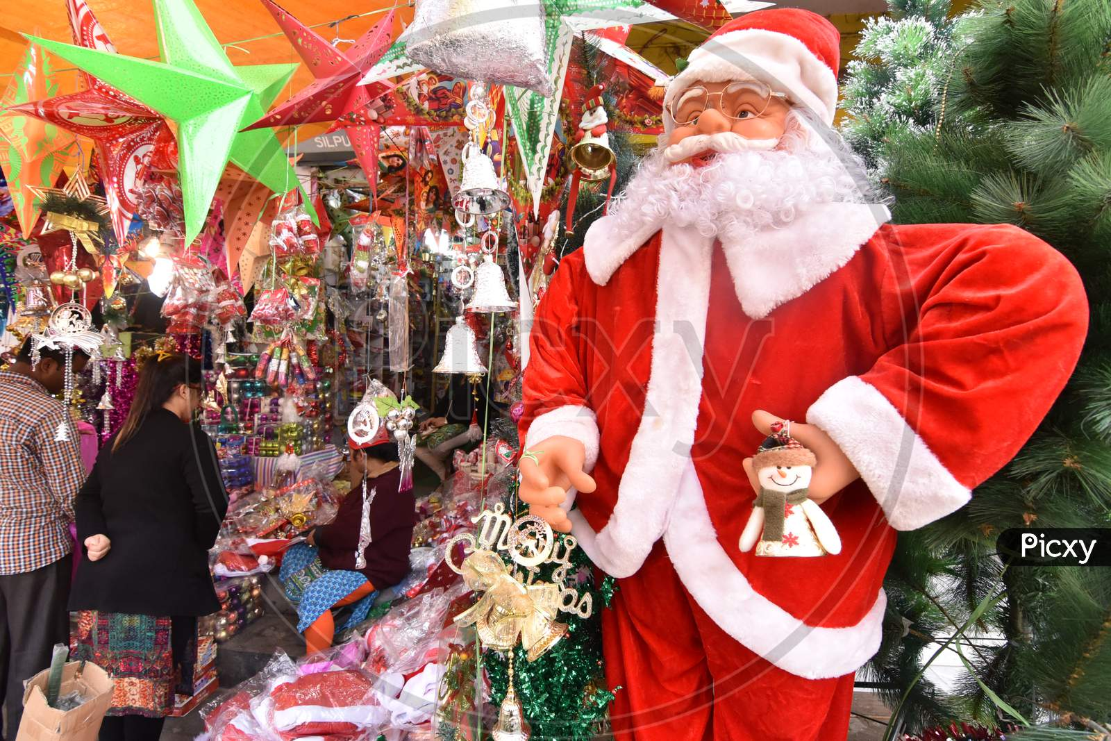 Christmas Decorative Articles Shopping In  Vendor Shops In Guwahati