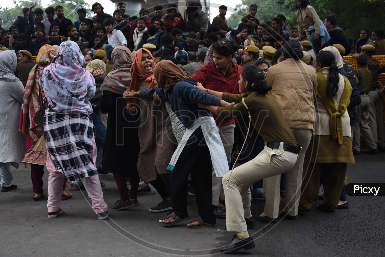 Protest against CAA+NRC & Police brutality on students in New Delhi.