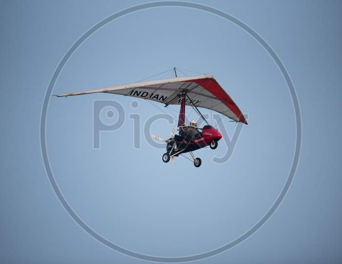 Indian Navy Para gliders  Demonstration During Navy day Celebrations at Visakhapatanam