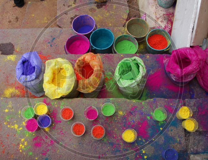 Holi Colour Powders in Covers