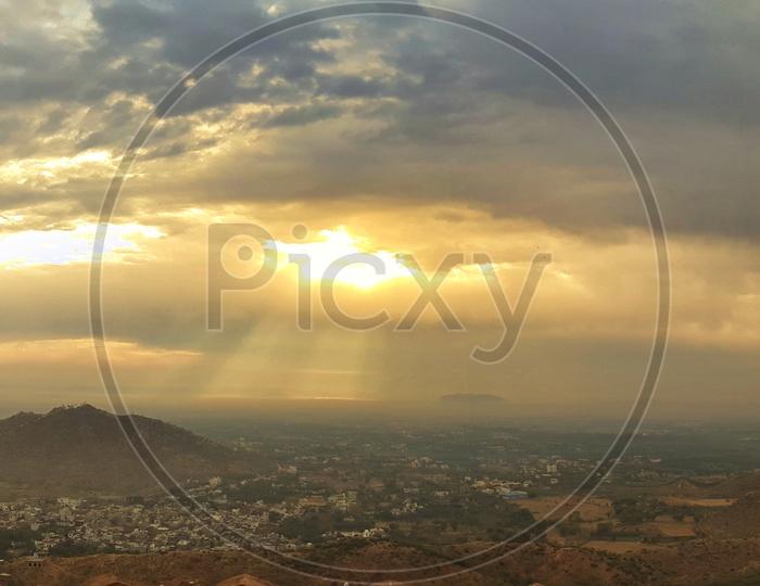 Panoramic View of Amer