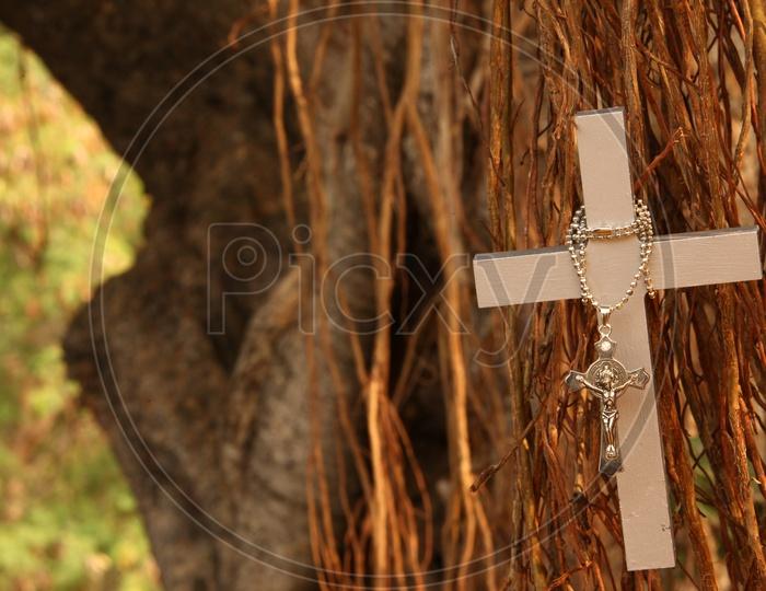 Jesus Christ Cross Symbol Composition Shots