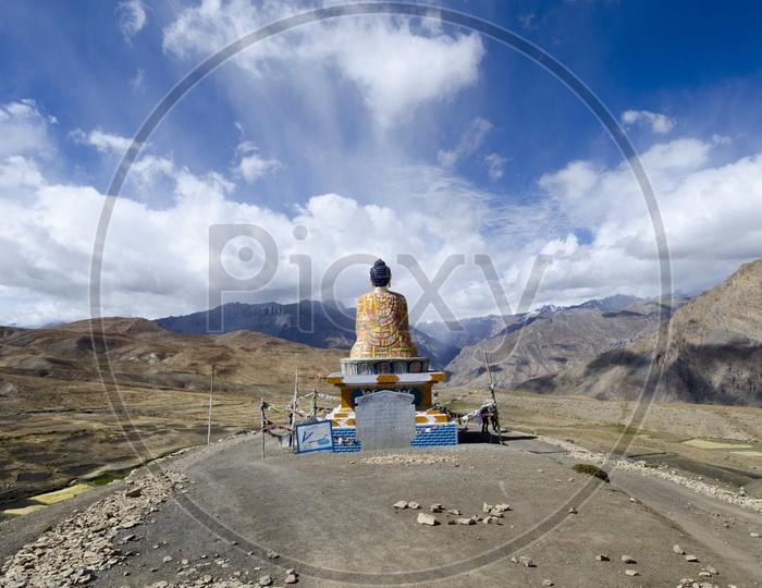 The beautiful Buddha statue in the Langza village