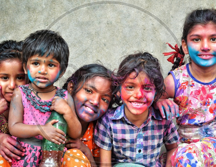The faces of Holi