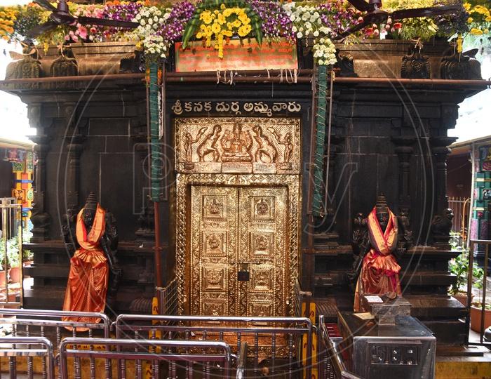 Gold Plated door of Vijayawada Kanaka Durga Temple