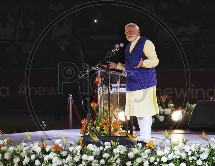 PM Modi during his speech in Surat