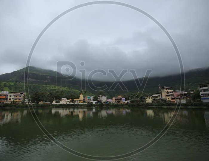 Reflection Of Western Ghats in Pond Water