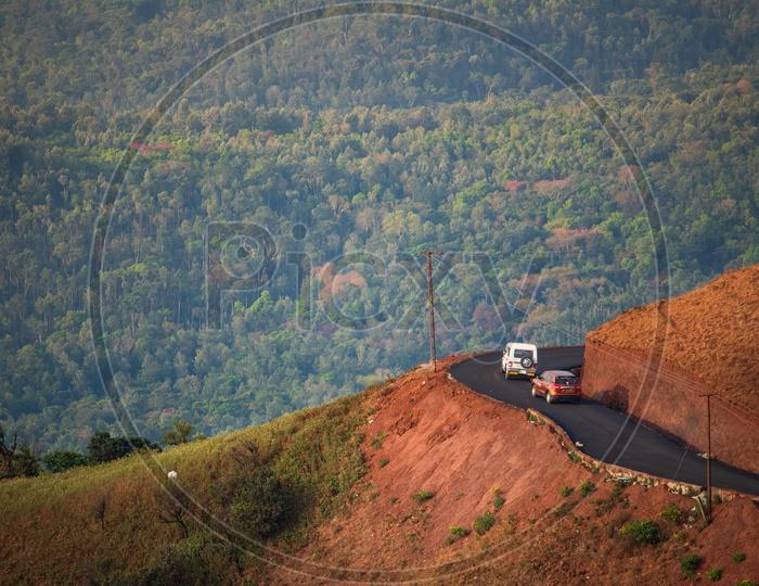 Road to Mullayanagiri Hill (Western Ghats), Chikmagalur, Karnataka
