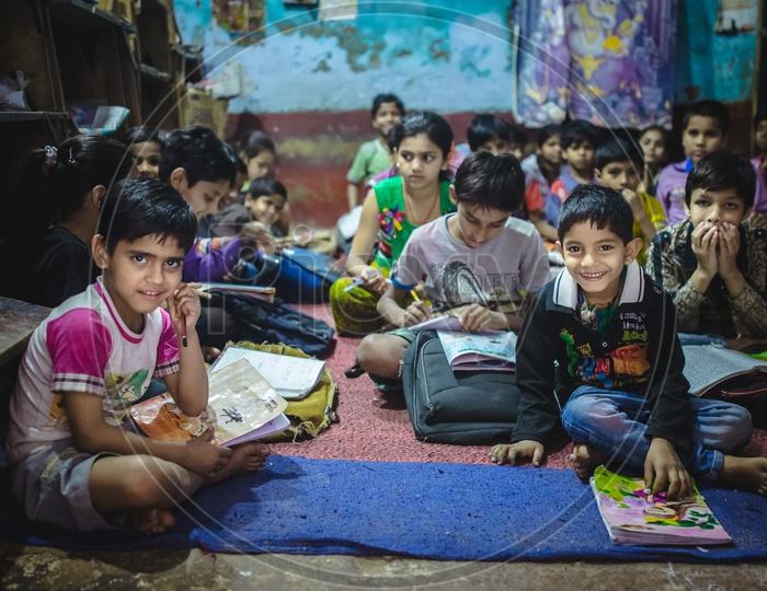 Indian Children In a School Class Room