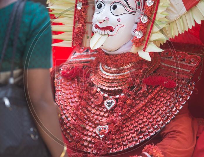 Theyyam artist at Theyyam Festival