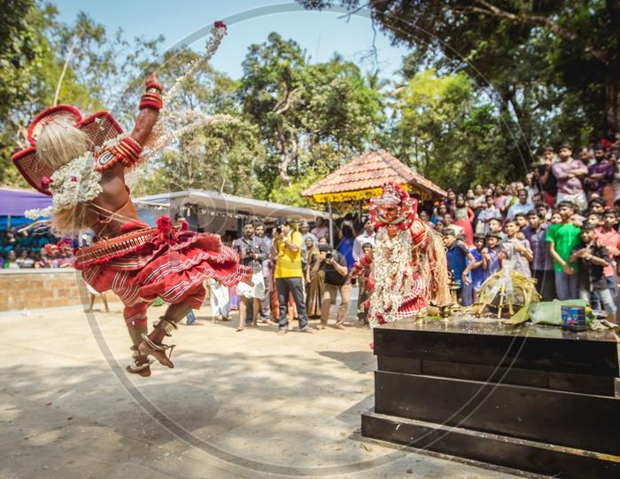 A Performer during Muchilottu Bhagavathi Theyyam