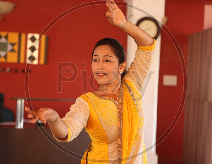 A Woman Artist Practise Kathak , A Traditional Dance Art Form
