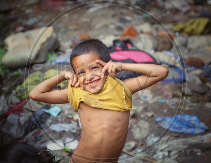 Kids Or Children In Indian Slum Areas