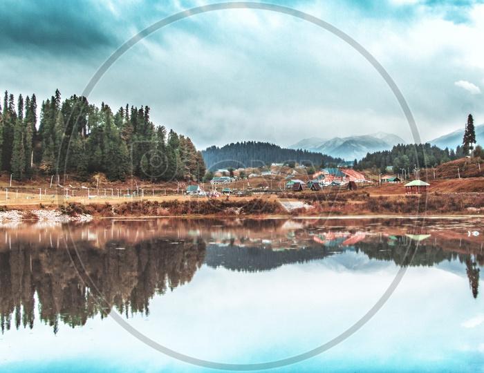Great lakes o Gulmarg Kashmir.