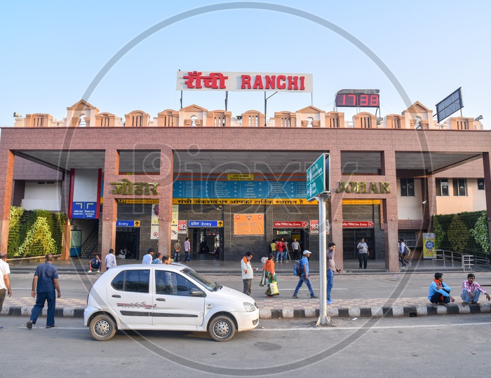 Car or Cab infront of Ranchi Railway Station