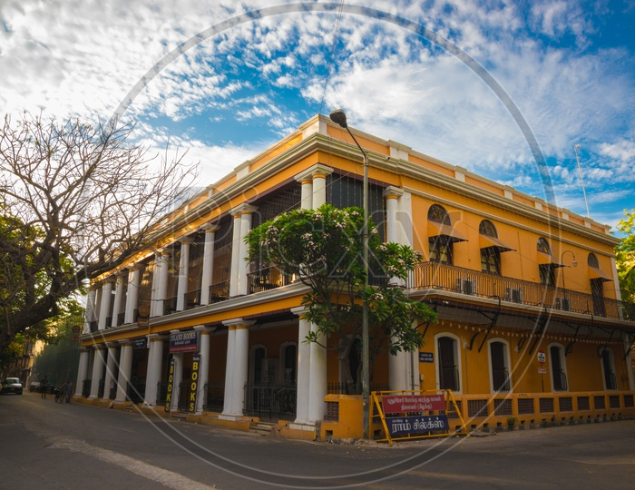 Colourful Building of Pondicherry