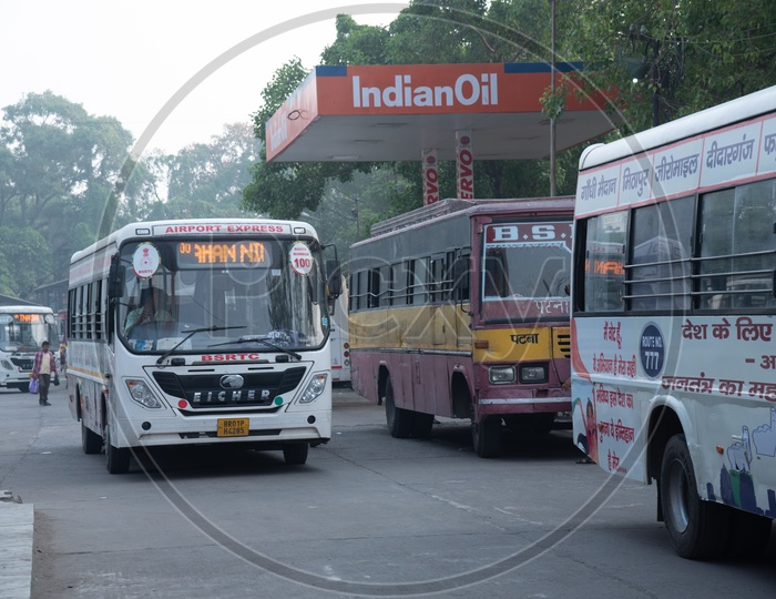 Airport  Express Buses On The City roads Of Patna