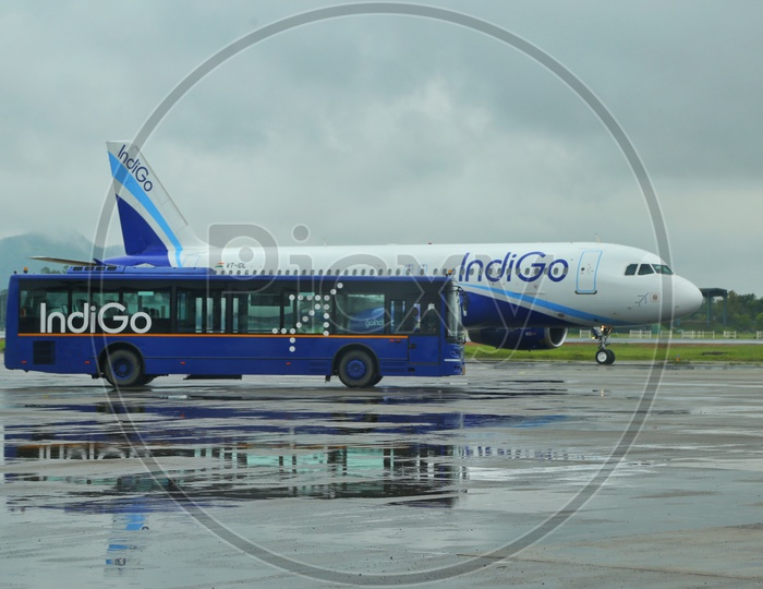 Indigo flight at Guwahati airport