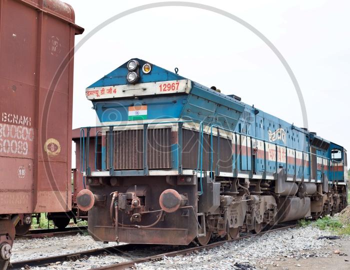 A goods train engine.