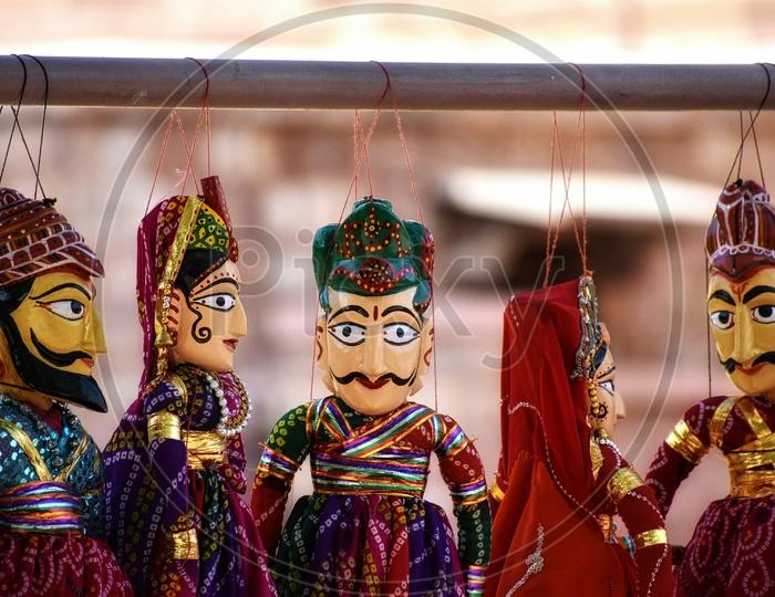 Souvenirs from jodhpur. Dancing Dolls.