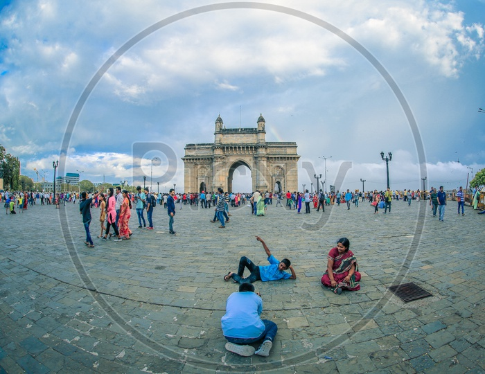 Tourists or Visitors At Gateway Of India