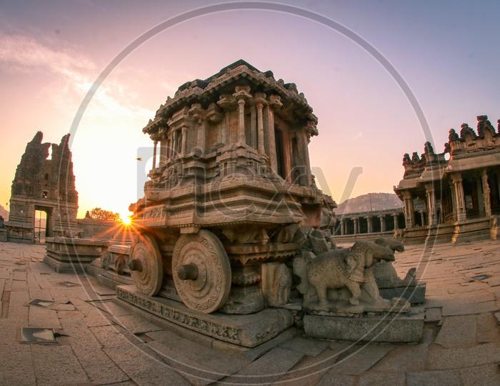 Stone Chariot At Vittala Temple In Hampi