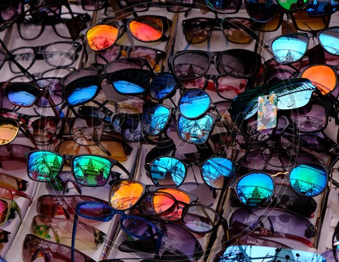 View of Howrah Bridge in the sunglasses